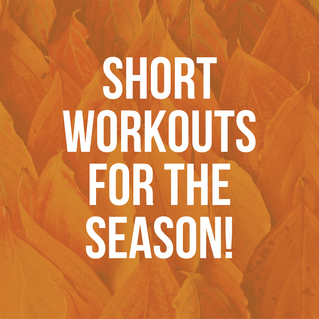 You are currently viewing Short Workouts! Part 1